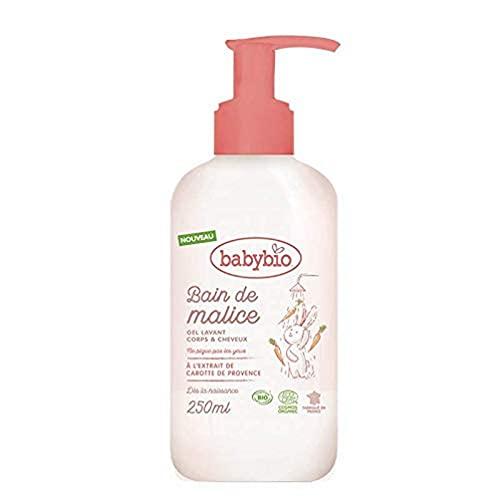 BABYBIO - Bain de Malice - Gel Lavant Bébé Bio - Cheveux et Corps – 250ml - Fabriqué en France