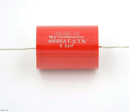 NO LOGO 10pcs Axial MKP 6.8UF 400VDC Metall Polypropylen Gitarre ungepolter HiFi DIY Audio Grade Kondensatoren for Rohr Gitarre