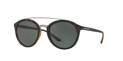 Armani 0AR8083 508971 52 Gafas de sol, Marrón (Matte Dark Havana/Greygreen), Mujer