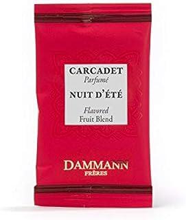 Pasticceria Passerini dal 1919 Dammann Nuit d'été - Té o infusión de Hibisco con Manzana y Frutos Rojos, 24 bolsitas - Dammann Frères
