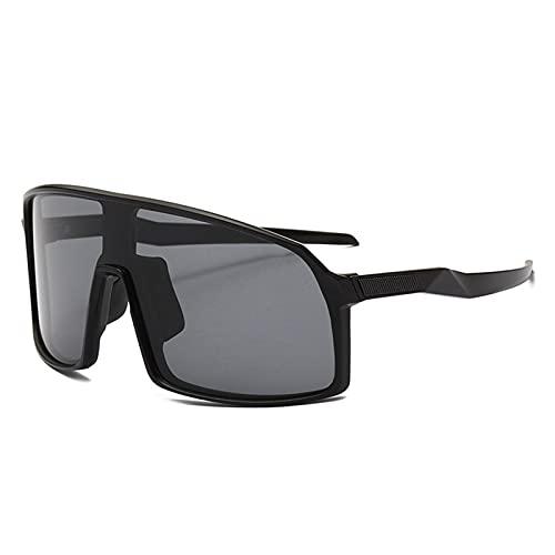 ZYUJ Gafas de ciclismo para hombres, Gafas de ciclismo Gafas de sol deportivas UV 400 Protección de una sola pieza Gafas de sol Equitación Escalada Pesca Golf C2