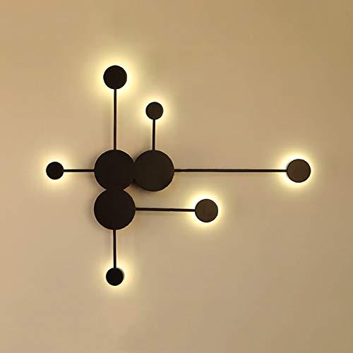 24W LED Geometrische Wandleuchte Innen Modern Minimalistischen Wandlampe Kreative Persönlichkeit Kreuz Design Acryl Eisen Wandbeleuchtung Wohnzimmer Schlafzimmer Hotel Schwarz Warmes Licht