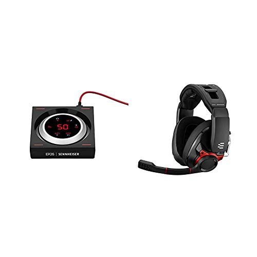 EPOS   Sennheiser GSX 1000 Gaming Audio Amplifier & I Sennheiser GSP 600 – Wired Closed Acoustic Gaming Headset, Noise-Cancelling Microphone, Adjustable Headband with Customizable Contact Pressure