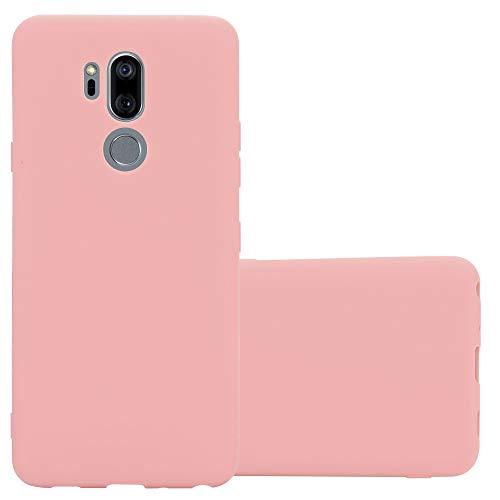 Cadorabo Hülle für LG G7 ThinQ in Candy ROSA - Handyhülle aus flexiblem TPU Silikon - Silikonhülle Schutzhülle Ultra Slim Soft Back Cover Hülle Bumper