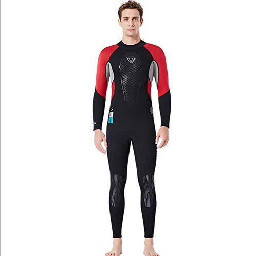 JJZXLQ Traje de Neopreno de Cuerpo Entero para Hombre, Neopreno Premium Traje de baño 3 mm Longitud Total Trajes de Snorkel Nadando/Submarinismo/Bucear/Surf,C,XL
