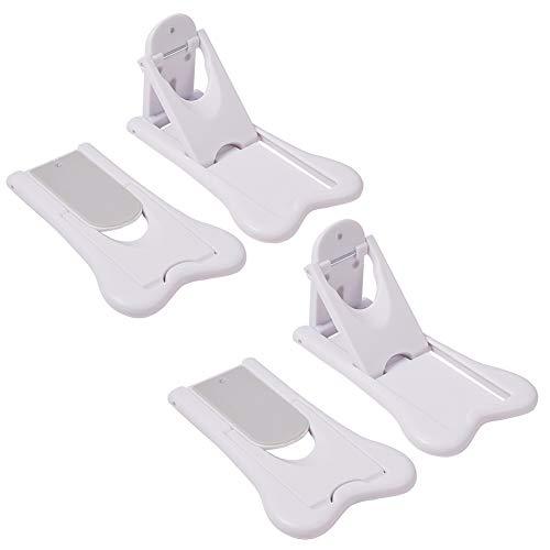 INCREWAY 4 Piezas Bloqueo de Seguridad, ABS Seguridad Ventanas Correderas Cerraduras con Adhesivo 3M Cerraduras de Puertas Correderas para Bebés