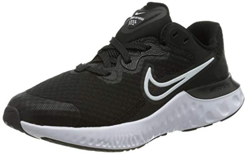 Nike Unisex Kinder Renew Run 2 Schuhe, Black White Dk Smoke Grey, 38 EU