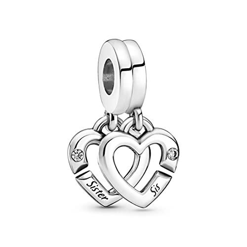 Pandora Colgante de corazón divisible en plata de ley con circonitas de la colección Pandora Moments 799538C01