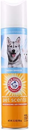 Arm Hammer For Pets Scents Pet Air Freshener in Fresh Breeze Scent Pet Odor Spray with Baking product image