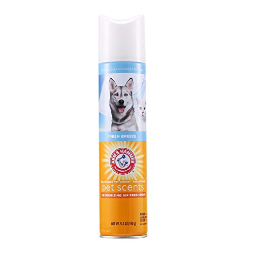 Arm & Hammer For Pets Scents Pet Air Freshener in Fresh Breeze Scent | Pet Odor Spray with Baking Soda Enhanced Formula to Eliminate Pet Odors | 5.3 Oz Pet Air Freshener for Home (FF12688)