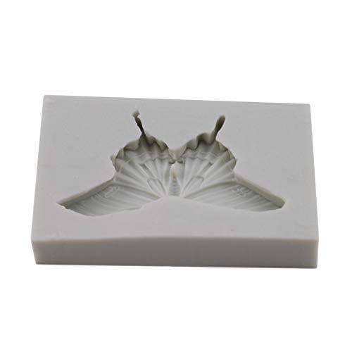 ODN 3D Silikonform Schmetterling Form Fondant Schokoladenform DIY Kuchen Tasse Kuchenform Tortendeko Mousse Sugarcraft Icing Pudding Schimmel Kuchendekoration,Grau