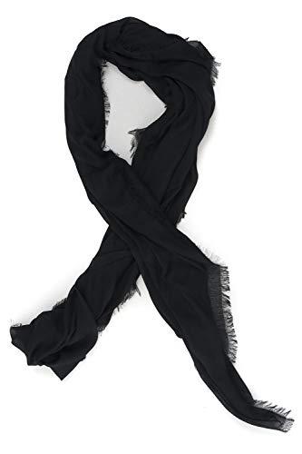 Guess dames sjaal Peony Classic zwart viscose
