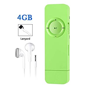 MP3 Player 4GB MP3 Player with USB Flash Drive, Portable HiFi Lossless Sound MP3 Music Player, Supports up to 64GB