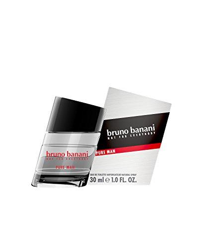 bruno banani Pure Man – Eau de Toilette Natural Spray – Holzig-blumiges Herren Parfüm – 1er Pack (1 x 30ml)