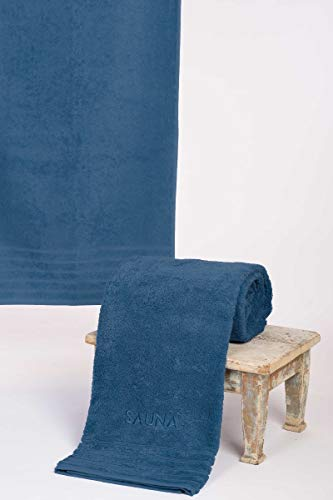 wewofashion Saunatuch Badetuch by Otto Werner 80 x 200 Jeansblau