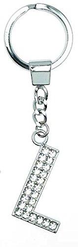 Schlüsselanhänger, Buchstabe L, mit Strasssteinchen, Key Chain