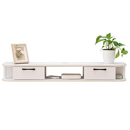 LXYFMS - Mueble de Pared para TV, Estante de Almacenamiento Abierto, cajón con Estante Flotante para DVD, Caja de televisión satelital, Estante para Caja de Cables
