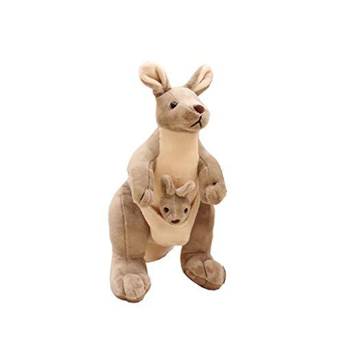 HUOQILIN Kangaroo moeder knuffel pop schattige pop kussen simulatie dieren (Size : 35cm)