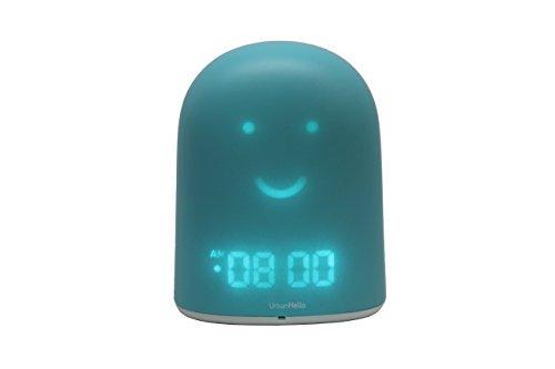 REMI - Le Meilleur Réveil Enfant Jour Nuit éducatif pour apprendre à dormir plus - Suivi du sommeil - Babyphone - Veilleuse - Enceinte musique - Bleu