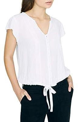 Sanctuary Bohemian Tie Front Top, Size X-Large - White