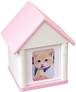 【Amazon商品】【ディアペット限定】骨壷をおさめる ペット 仏壇 かわいい クリメイションハウス 虹の橋のおうち ピンク
