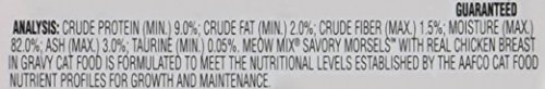 Meow Mix Savory Morsels Wet Cat Food, 2.75 Ounce Cups 5