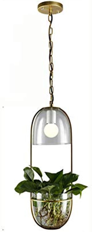 WETRR LED Pendant Lights Bottle Lamps Flush Mount Ceiling Light Fixture, Fashion Cafe Tea Pot Plants Glas Chandelier