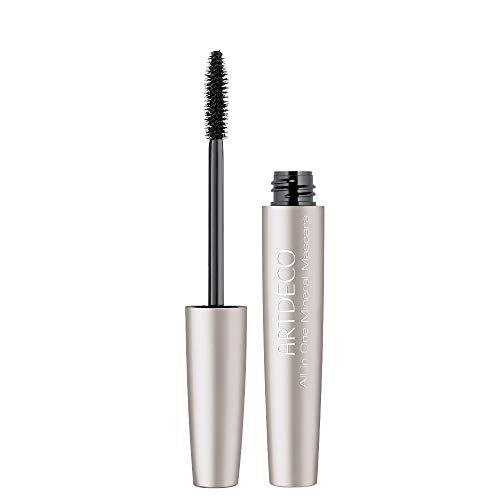 ARTDECO All In One Mineral Mascara – Parabenfreie, schwarze long-lasting-Wimperntusche – Für empfindliche Augen – 1 x 6 ml in der Farbe 01 black