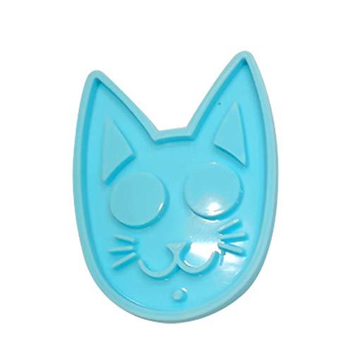 Wendao Molde brillante de cabeza de gato llavero DIY hecho a mano encantos molde resina artesanía molde joyería silicona
