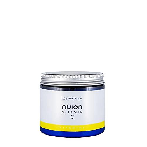 NUION Vitamina C con curcumín, apoyo normal del sistema inmunológico, protege contra el estrés oxidativo, reduce la fatiga y la fatiga, para veganos y vegetarianos