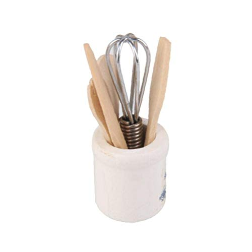 tJexePYK Utensilios de Cocina en Miniatura para casa de muñecas Mini Vajilla Juguetes Tenedor Cuchillo Kit de Herramienta,de la Cocina Cocina del Dollhouse Suministros Accesorios