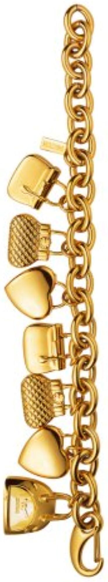 Moschino bracciale in acciaio inox  placcato oro con ciondoli 7753350197