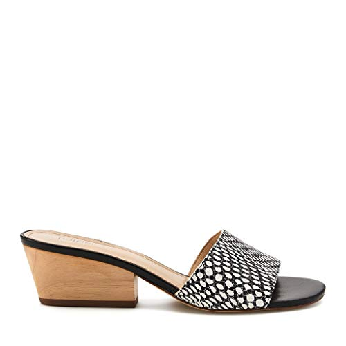 Botkier Carlie Mule, Black and White Snake, 11