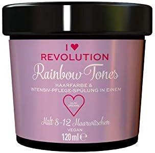 I Heart Revolution Rainbow Tones Lilac Dreams - Tinte para el cabello semipermanente y acondicionador en uno, lavable con 8-12 lavados de pelo, ...