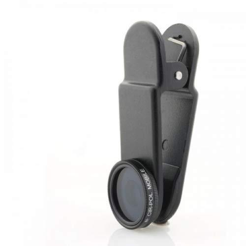 System-S CPL - Filtro polarizador circular con clip y funda protectora negra para smartphone