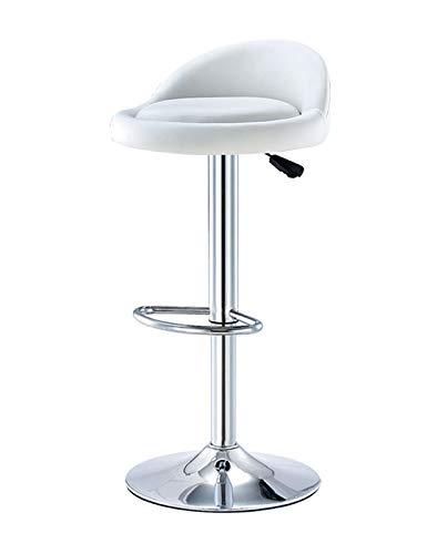 Taburetes de barra de desayuno de cocina - Giratorio de 360 grados - Taburete de barra de asiento redondo de elevación de gas ajustable en altura de piel sintética con respaldo de metal para muebl