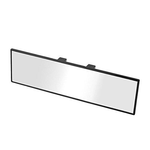24 x 7cm nero involucro Clip su Car Interior Rear View Mirror Rearmirror