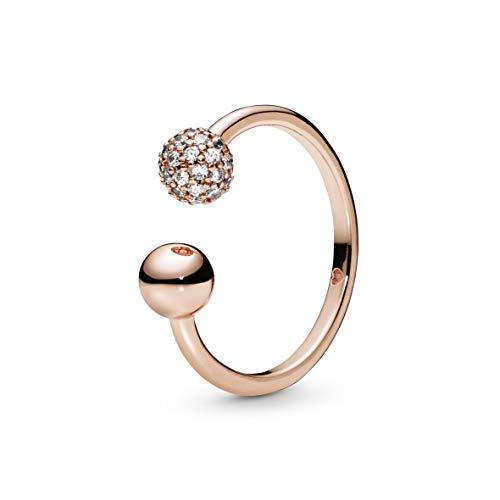 Pandora Damen-Statement-Ringe Silber_vergoldet mit '- Ringgröße 60 188316CZ-60
