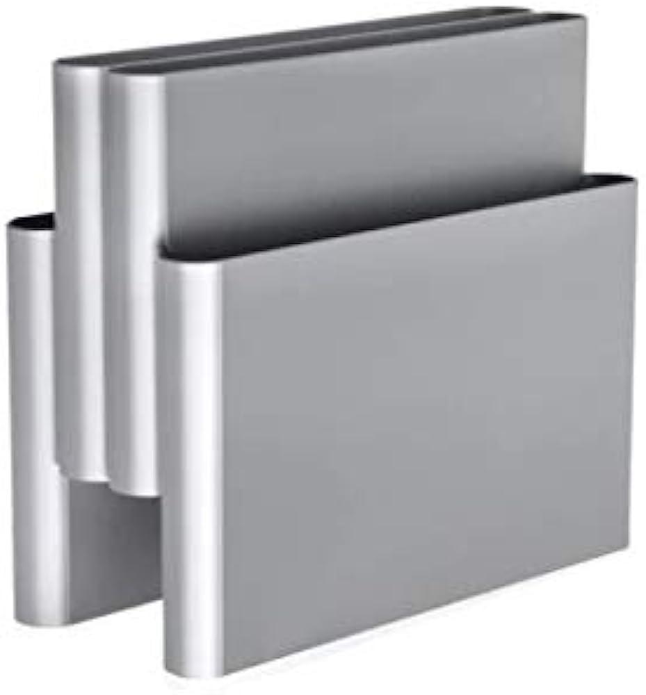 Kartell magazine rack portariviste, alluminio 4676/SI