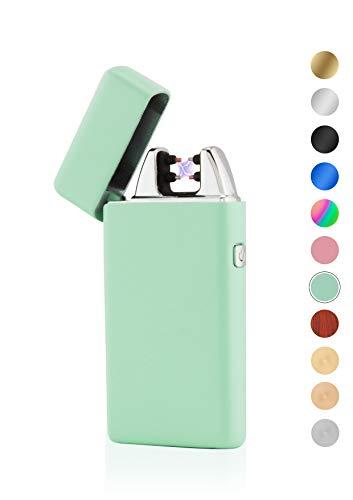 TESLA Lighter TESLA Lighter T05 Lichtbogen Feuerzeug, Plasma Single-Arc, elektronisch wiederaufladbar, aufladbar mit Strom per USB, ohne Gas und Benzin, mit Ladekabel, in edler Geschenkverpackung Mint Mint