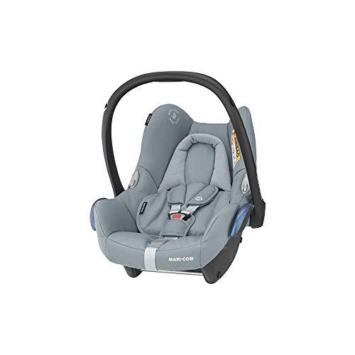 Maxi-Cosi CabrioFix Babyschale, Baby-Autositze Gruppe 0+ (0-13 kg), nutzbar bis ca. 12 Monate, passend für FamilyFix-Isofix Basisstation, Essential Grey (grau)