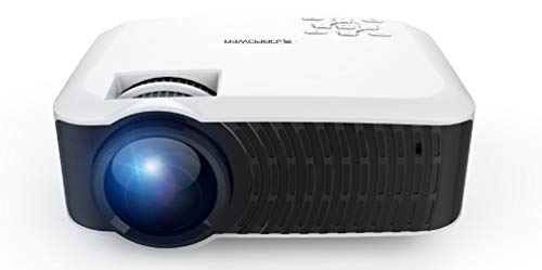 """Movie Projector, DBPOWER 120 ANSI LCD Video Projector Free HDMI 176"""" Display 50,000 Hours LED Portable Projector Support 1080P, Compatible with AV, USB, SD, Amazon Fire TV Stick ..."""