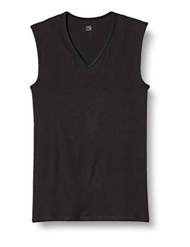 [グンゼ] インナーシャツ YG 綿100% Vネックスリーブレス YV0018N メンズ ブラック 日本L (日本サイズL相当)