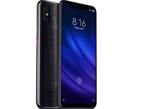 Xiaomi Mi 8 Pro (128GB, 8GB RAM) with In-Screen Fingerprint Reader, Dual Camera's, 6.21' AMOLED Display, Factory Unlocked - Global Version No Warranty (Transparent Titanium)