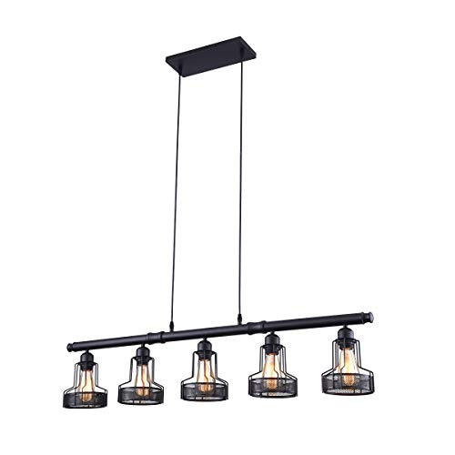 mirrea Rustic Kitchen Island Lights 5 Lights Ceiling Light...