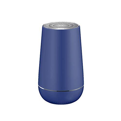 Zgywmz Bluetooth Lautsprecher TWS Tragbare Miniskirt Wireless-LED 3D-Surround-Bass Freisprecheinrichtung-Player USB-Mp3 Musik Legal Lautsprecher (Color : Blue)