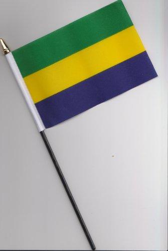 Gabun Hand Flagge 25cm