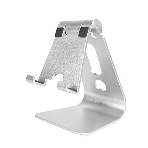 2020 Soporte telescópico Plegable de elevación Ajustable del Tenedor la Tableta teléfono móvil Escritorio Tablet multiángulo Mesa Plegable, Aluminio con Varilla Doble Compatible YANFANG (White2)