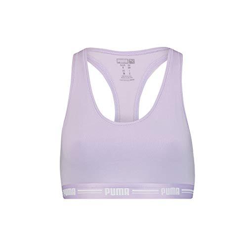 PUMA Women Racer Back Top 1P Hang Camiseta, Purple, M para Mujer