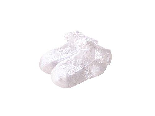Need4Baby Babysocken für Mädchen Sommersocken Taufsocken Gr.15-20 Farbe: Weiß